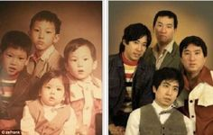 Now and then: Cringeworthy pictures of people recreating photos years later (and they look pounds heavier and a thousand times more awkward) // Some of these are just TOO funny! Recreated Family Photos, Childhood Photos Recreated, Awkward Family Photos, Old Family Photos, Brother Photos, Pictures Of People, Baby Pictures, Funny Pictures, Asian Boy Band