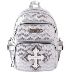 b4a7b7351a0f Anna sequin white Miss Me backpack Sequin Backpack