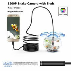 Bakeey WiFi Endoscope Borescope Inspection Camera Rigid Cable for Android IOS Mobile Accessories, Wifi, Cable, Smartphone, Android, Technology, Cabo, Tech, Cords