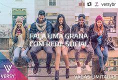 #Repost @versybr with @repostapp  Galera jovem das redes sociais que queira fazer uma grana moderando comunidade de SERTANEJO/FUTEBOL/GAMES. Envie um email para contato@versy.com com:  1) seu nome e a comunidade que vai moderar (Ex: João da Silva / FUTEBOL); 2) link para suas principais redes sociais (não se esqueça de deixar seu perfil desbloqueado). Caso você se encaixe no perfil nós entraremos em contato. #social #redesocial #midiassociais #midias #dinheiro #trabalho #job #sertanejo…