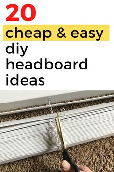 Update your bedroom decor on a budget with these creative diy headboard ideas. Perfect for bedroom makeovers on a budget. Quick simple headboard ideas #hometalk #diyheadboards #cheapdiyheadboards #howtomakeaheadboard