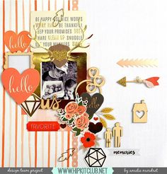 Designer @amelie_mordret is up on the blog with a new LO using our #october2015 kits featuring @pebblesinc @pinkpaislee @simplestories_ #hipkitclub #hipkits