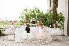 mesas para fiesta de niñas