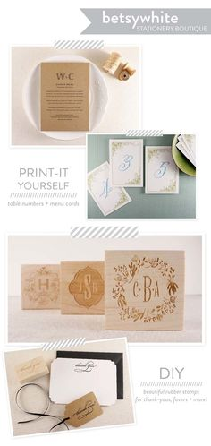 Betsywhite Stationery Boutique + A Discount!  Read more - http://www.stylemepretty.com/2013/08/27/betsywhite-stationery-boutique-a-giveaway/