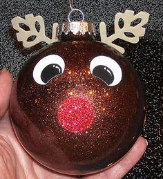 Rudolph Glitter ornament