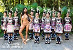 """""""The underlying problem with a shoot like this is there is almost no way for a bikini-clad model in a foreign place to not somehow sexualize that place, and by extension, its people......is it just me or do pictures of barely dressed women placed among children just a strange, strange choice for any sexy photo shoot?"""" http://www.racialicious.com/2013/02/20/suggestions-for-the-future-sports-illustrated-swimsuit-edition/"""