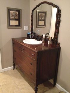 turn a dresser into bathroom vanity find dressers at habitat for humanity restore of