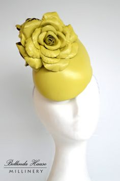 Leather Hat with Leather Roses by BELLINDA HAASE #millinery #hats #judithm
