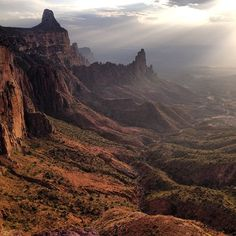 Late afternoon descent, Gheralta heights. Phenomenal hike and rock climb to the hilltop monasteries of Maryam Korkor. This is peak Ethiopia.