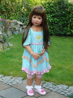 """$285.00, Masterpiece Doll Eden, 41"""", 11 Joints, Brown Hair, Brown Eyes - Arms also move apart!"""