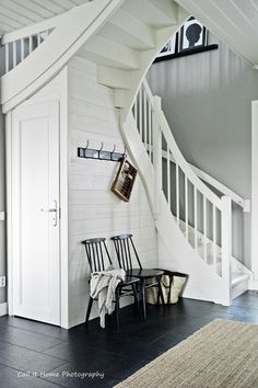 Our Home - Our lifestyle. Cottage Stairs, Staircase Storage, Stair Well, Fantasy Rooms, Entry Hallway, Wooden House, Scandinavian Home, Creative Decor, House Rooms