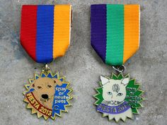 Spay or Neuter Pets Cat and Dog 2013 Fiesta Medals by The Cannoli Fund $8. San Antonio, Texas