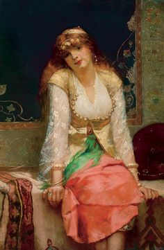 Beauté orientale , avant ou vers 1880 - Jean-Joseph Benjamin-Constant (French,1845-1902) Orientalism