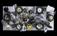 for the palate, as well as the eye, a palette of black, grey, white, and yellow (photo source via Trendland)