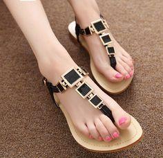 shoe addict, flat sandals, squar flat, adorb shoe, geometr squar