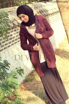 wool long cardigan hijab look,Modest hijab outfits by Devushka http://www.justtrendygirls.com/modest-hijab-outfits-by-devushka/