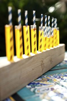 Harry Potter Birthday Party - Test tubes with pumpkin juice - using our party straws! shopsweetsandtreats.com