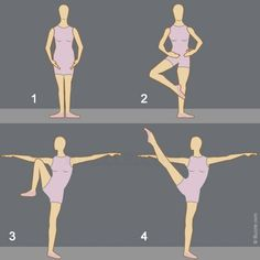 Developpe ballet position... one question... WHY IS HER FOOT NOT POINTED IN THE THIRD PICTURE????????????????
