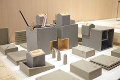 【2014 TWDW】3x3 概念創作展--不和諧中的和諧「小城市軟水泥文具組」