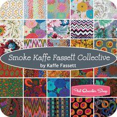 Smoke Kaffe Fassett Collective Charm Pack Kaffe Fassett for Westminster Fibers - Fat Quarter Shop $12.99
