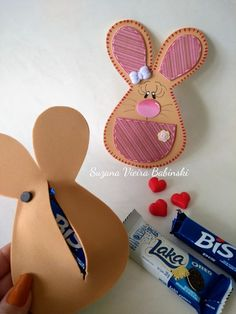 Foam Crafts, Diy And Crafts, Crafts For Kids, Bunny Crafts, Easter Crafts, Cat Sweaters, Christmas Cards, Christmas Ornaments, Decorate Notebook
