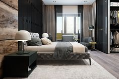 This luxurious home in Kiev is the work of designers Vitaly Yurov and Iryna Dzhemesiuk, a cozy and comfortable space decorated with rich textures in high contra
