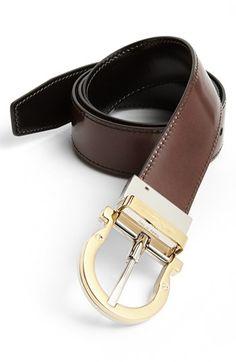 Salvatore Ferragamo 'Twirl' Reversible Belt available at #Nordstrom