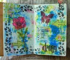 Kath's Blog......diary of the everyday life of a crafter: Simon Says...Make Your Own Background...