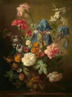 Oil Painting Dutch Vase Of FlowersBy Jan Van Huysum Printing On Perfect Effect Canvas Inch Cm the Best Powder Room Gallery Art And Home Artwork And Gifts Is This Vivid Art Decorative Prints On Canvas Types Of Painting, Painting Prints, Canvas Prints, Art Prints, Art Floral, Floral Wall, Flower Vases, Flower Art, Flower Prints
