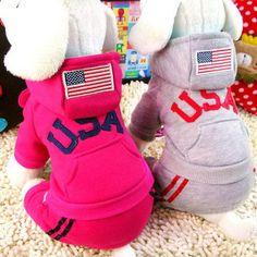 USA Jumpsuit Dog Jacket