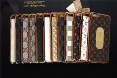 LV GUCCI Hardcase mit goldem Schild und Logo darin für iPhone 6/6 Plus - spitzekarte.com