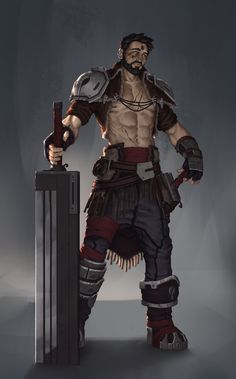 ArtStation - concept guy with a big sword !, sebastien de louvigny