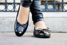Chanel flat shoes.