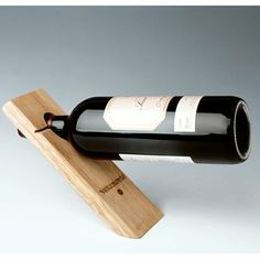"""Single Bottle Wooden Wine Stand 
