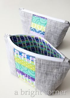 Favorite zipper pouch tutorials - these are the top three tutorials to use when you need a zipper pouch! More