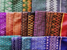 Cambodian hand woven ikat silk textiles Textiles, Textile Patterns, Textile Design, Fabric Design, Silk Fabric, Laos, Weaving Projects, Clothes Crafts, Cambodia