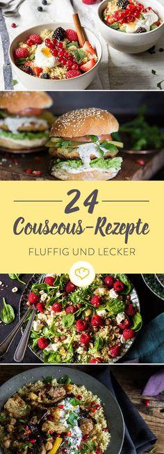 Wie unglaublich abwechslungsreich Couscous ist, beweisen dir diese 24 außergewöhnlichen Rezeptideen. Süß, herzhaft, fluffig, kompakt - alles ist dabei.