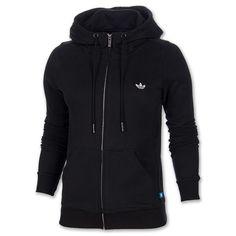 Women's adidas Originals Slim Full-Zip Hoodie| Finish Line | Black