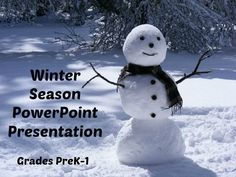 This power point presentation explains the winter season in simple terms using real, full-color photographs. Children will learn when the winter season occurs, the winter solstice, why it snows, what animals hibernate, and more. https://www.teacherspayteachers.com/Product/Winter-Season-Power-Point-Presentation-1585689
