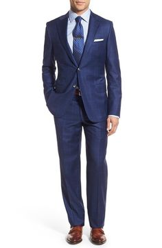 Hickey Freeman Classic Fit Windowpane Wool Suit available at #Nordstrom