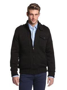 60% OFF American Stitch Men's Zip-Up Sweater