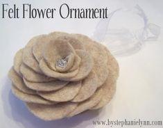 Felt Flower Ornament