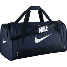 46da3ed08b43 Head off to the gym or team practice with the NIKE Brasilia 6 large duffel  bag. Its roomy main compartment has a wide