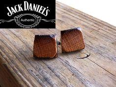 Jack Daniels Whiskey Barrel Wood Cuff Links by TennesseeWoodShop, $36.00