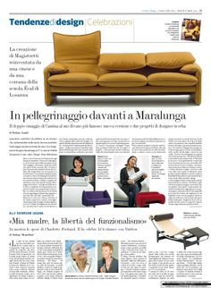 Cool Since 1974. Cassina celebrates the 40th anniversary of the iconic Maralunga sofa by Vico Magistretti with a project that narrates the past, the present and the future at the Cassina Showroom Milano.