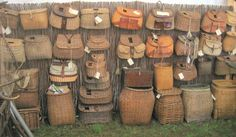 Fishing Tackle baskets want these to decorate with cold find some good uses for these