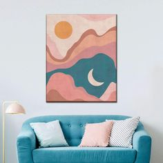 Easy Wall Art, Cool Wall Art, Colorful Wall Art, Art Wall Kids, Canvas Wall Art, Nursery Canvas Art, Wooden Wall Art, Wall Art Boho, Wall Art Decor