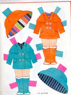 Whitman United Airlines Tini GO Along Paper Dolls BK 1969- Come FLY With ME