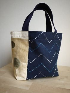 Items similar to DIY Sashiko Embroidery Kit: City Tote on E Sashiko Embroidery, Japanese Embroidery, Embroidery Kits, Patchwork Bags, Quilted Bag, White Tote Bag, Quilt Modernen, Denim Bag, Fabric Bags