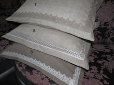 A pair of pillow case 100 natural flax by HandmadeShoping on Etsy, $29.20